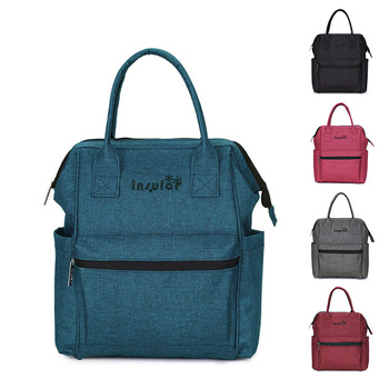 Waterproof Nylon Diaper Bag Multifunctional Large Capacity Fashion Trend Mommy Bag Mother and Baby Go out for Delivery Backpack