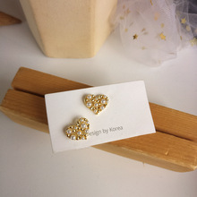 Delicate fashion jewelry sweet love earrings simple hollow stud small pearl earrings students women jewelry girl student gifts delicate fashion jewelry sweet love earrings simple hollow stud small pearl earrings students women jewelry girl student gifts