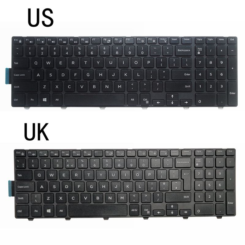 NEW US/UK/SP LAPTOP KEYBOARD FOR Dell Inspiron 15-3000 5000 7559 5547 5000 5545 5542 5545 5547 3541 3542 3543 3550