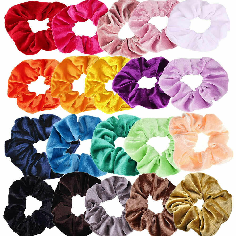 36 Colors Velvet Scrunchies Elastic Hair Bands For Women Hair Accessories Haarband Ponytail Holder Scrunchie Hair Ring   Headwear