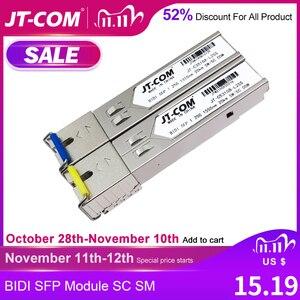 Image 1 - 送料無料!2個のSFPモジュールSCコネクタギガビットDDM BIDIミニgbic 1000MbpsシングルファイバーSC SFP光ファイバートランシーバーOtdr光トランシーバーモジュール5 120 km Mikrotik Cisco TP Linkスイッチとの互換性