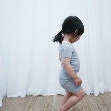 T-Shirt Pyjamas Nightgown Short-Sleeve Girl Baby Infant Summer Boy Cotton Polka-Dot 0-24M