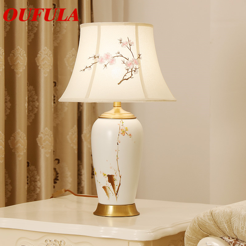 Ceramic Table Lamps Desk Lights Luxury Dimmer Modern