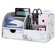 Ofis malzemeleri çok fonksiyonlu kırtasiye saklama kutuları kalemlik kalem kutusu büyük kapasiteli masa düzenleyici çekmece ile yeni