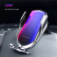 10W Automatic Clamping Car Wireless Charger Quick Charge for Iphone 11 Pro XR XS Huawei P30 Pro Qi Infrared Sensor Phone Holder|Car Chargers| |  -