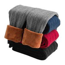 Girls Trousers Thicken-Leggings Pant Winter Children Velvet Autumn 2-10years Warm Plus
