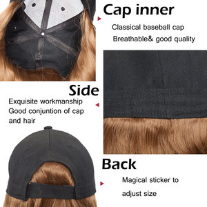 Image 3 - SNOILITE 16inch Wavy Hair Extensions with Black Cap Long Synthetic extension hair integrate cap with hair for girl party