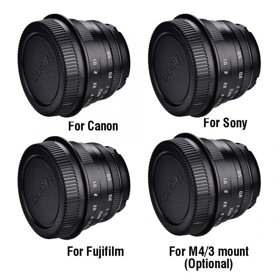 35mm F1.6 Manual Focusing Lens For Canon Mount For Fujifilm Mount For M4/3 Mount Mirrorless Cameras Photography Lens Accessories