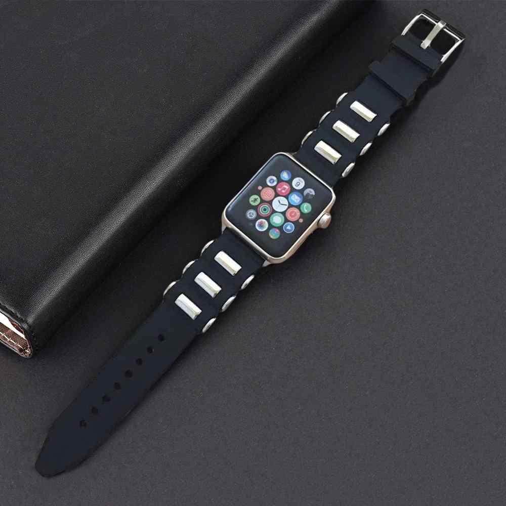 ยางสำหรับ Apple นาฬิกา Series 4 3 2 1 Soft ซิลิโคนสำหรับ iWatch 40 มม.44 มม. 38 มม.42 mmseries 5