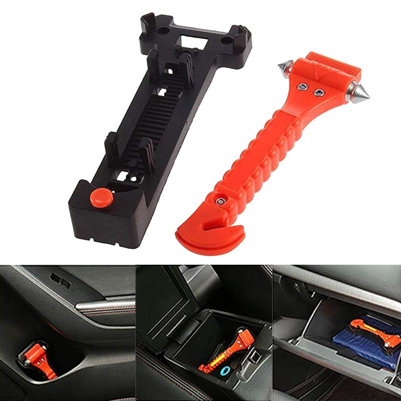 Car Safety Glass Window Breaker Emergency Hammer and Escape Seat Belt Cutter