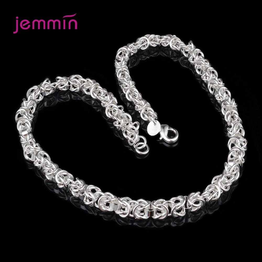 Punk Exaggerated Heavy Large Thick 925 Sterling Silver Chain Choker Vintage Chain Pentagram Necklace Jewelry Pendants For Women