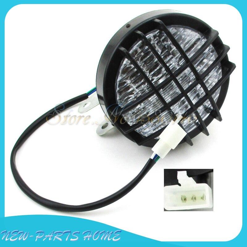 TDPRO 24V 1.5W LED Headlight for 50cc 110cc 125cc 150cc 200cc 250cc ATV Go-Kart Buggy 1pc