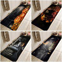 Happy Halloween Pattern Carpet Kitchen Entrance Doormat Anti-slip Floor Rug Bathroom  Area  Hallway  Free Shipping