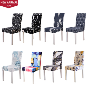 Flower Printing Removable Chair Cover Stretch Elastic Slipcovers Restaurant For Weddings Banquet Folding Hotel Chair Covering(China)