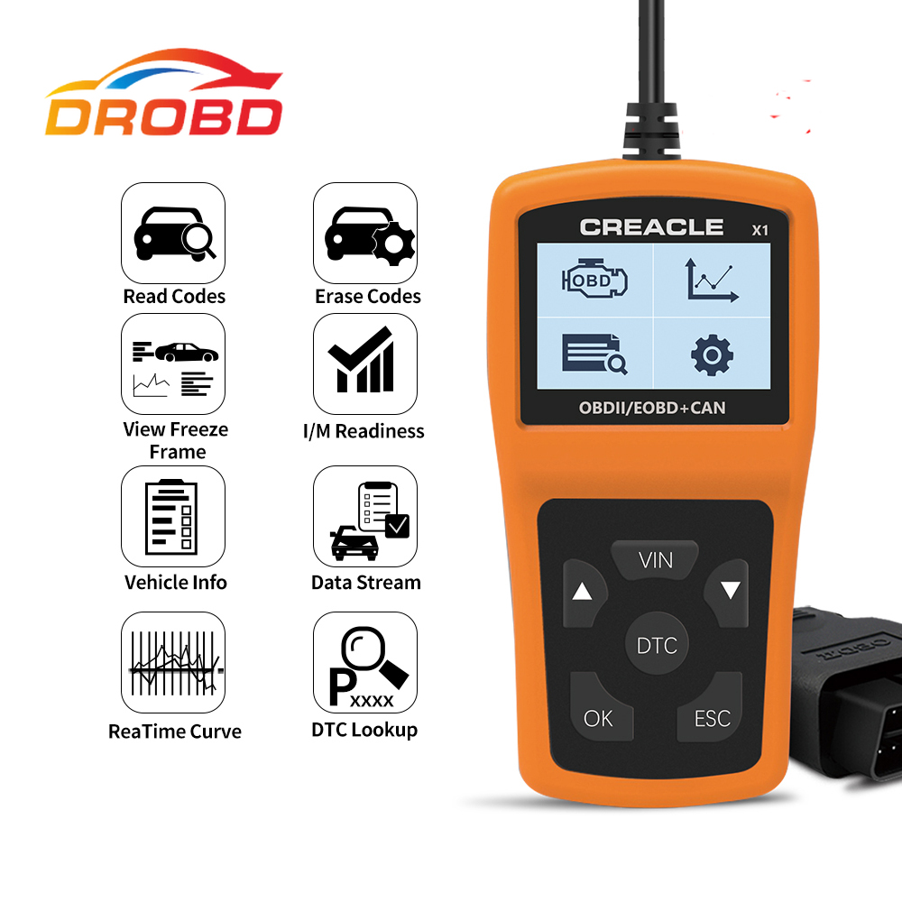 X1 Read/Clear Fault Code Reader Scan Tool OBDII/OBD Read DTC OBD2 Car Diagnostic Auto Tool Diagnostic Scanner For Car