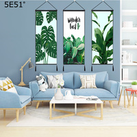 Tropical plant flamingo series hanging painting living room decoration tapestry 120*48cm