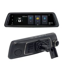 Nueva moda 4G Streaming Media 10 pulgadas HD Smart navegación espejo retrovisor grabadora de conducción para dispositivos Android(China)