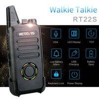 מכשיר הקשר 2pcs RETEVIS RT22S דיבורית מכשיר הקשר RT22 שדרג תצוגה VOX Hidden שני הדרך רדיו דו-כיווני משדר רדיו טוקי (2)