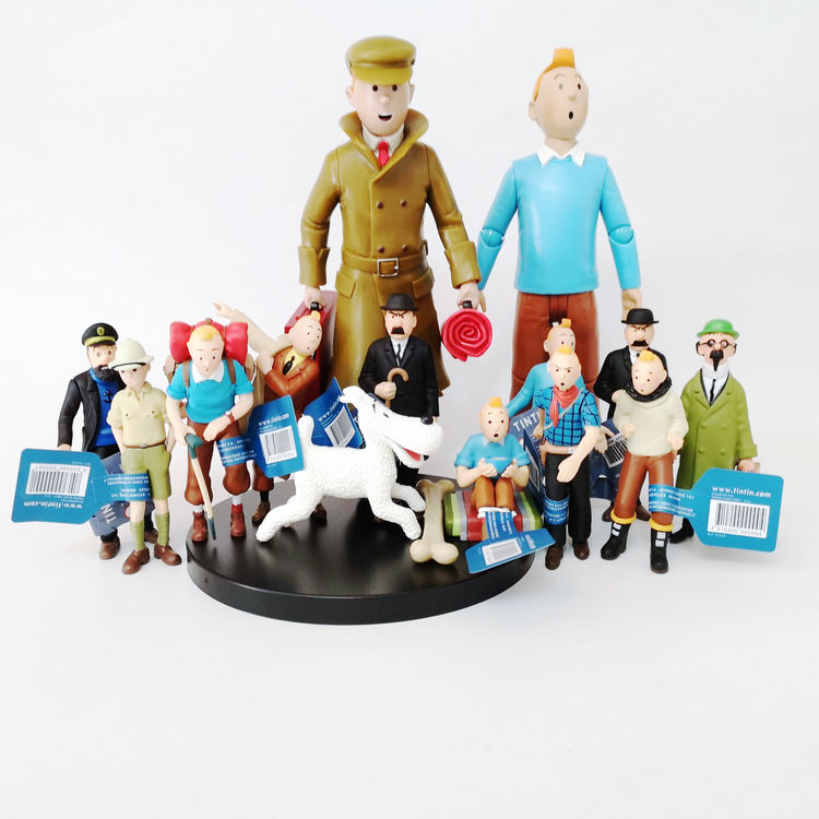 2019 New Arrival The Adventures Of Tintin Tintin And Milou PVC Action Figure Collectible Model Toy