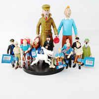 2019 chegada nova as aventuras de tintin tintin e milou pvc figura de ação collectible modelo brinquedo