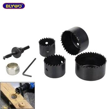 цена на 6pcs/Set Carbon Steel Hole Cutter Saw Drill bit Wood Sheet Hole saw Cutting Tool Kit for carpentry