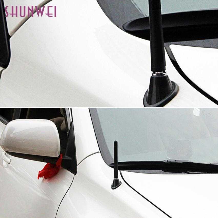 Piuttosto Universale Nero Fibra di Carbonio A Breve Antenna Antenne Per Toyota Highlander June6 auto-styling