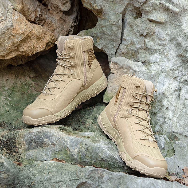 Free ShipHiking Boot Military-Shoes Tactical Desert Training Hunting Outdoor Climbing Summer Breathable█