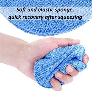 "Image 3 - 10pcs Car Waxing Polish Soft Microfiber Foam Sponge Applicator Cleaning Detailing Pads 5"""