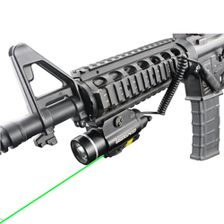 Tactical LED Weapong Gun Light Red Dot Laser Pointer Sight Military Airsoft Rifle Pistol Gun Flashlight for Picatinny Rails Guns