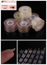 600 sztuk taśma do powiek naklejki niewidoczne podwójnie składana pasta do powiek pasek 6 kolory samoprzylepne naturalne oko taśmy narzędzia do makijażu