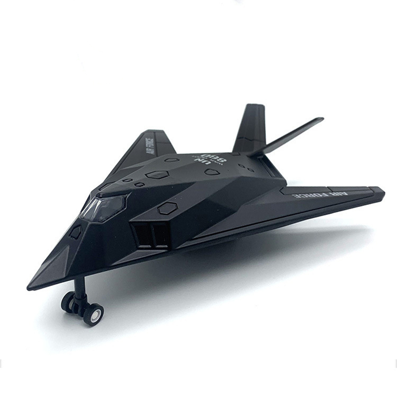 Military Model Toys F117 F-117 Stealth Fighter Nighthawk Fighter Diecast Metal Model Toy Pull Back For Kids Gifts Collection