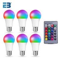 Smart Lampe E27 10W 15W AC 85-265V Led-lampe Farbe Ändern Dimmbare RGB Glühbirne mit Fernbedienung Led Lampada Dekor Hause
