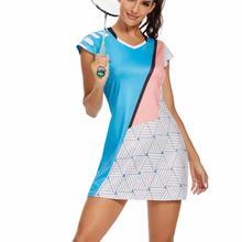 Женское платье для бадминтона, тенниса, быстросохнущая рубашка с коротким рукавом, дышащее Спортивное платье для тренировок по настольному...
