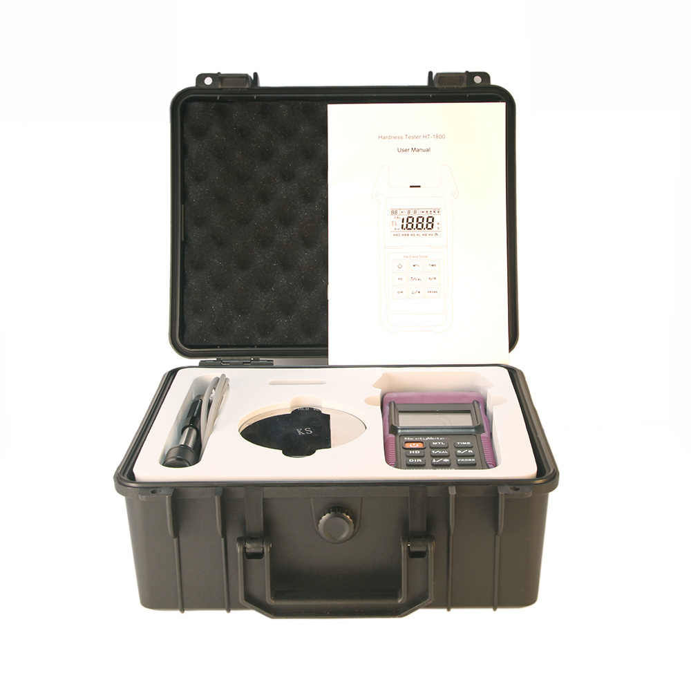 Nicetymeter HT-1800 الارتداد المحمولة ليب اختبار صلابة متر مقياس التحمل HT1800 للمعادن الصلب المحمولة HLD HRC HRB HB HV HS