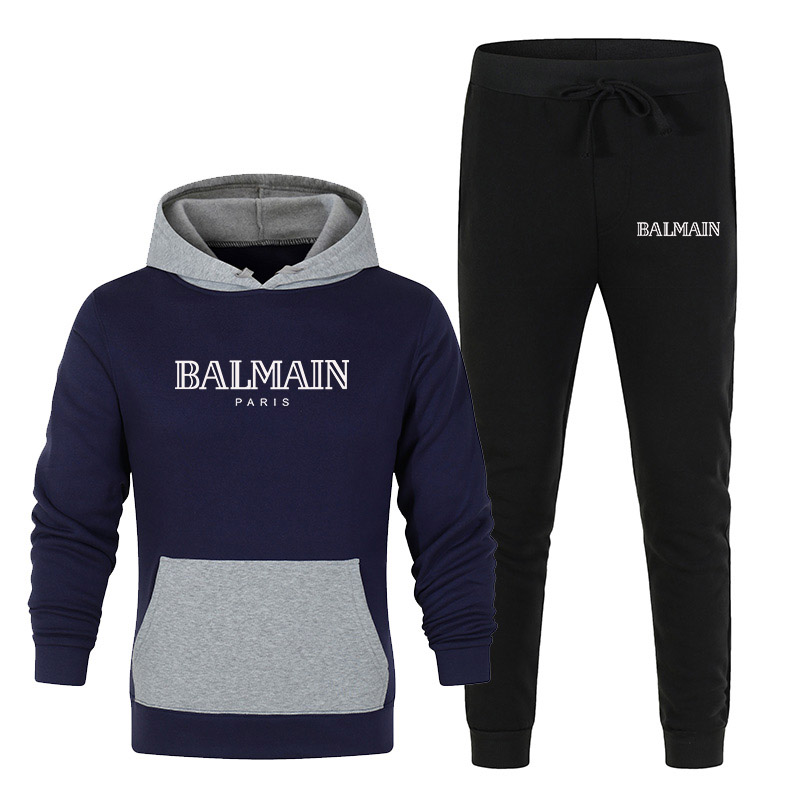 2 Pieces Sets Tracksuit Men Hooded Sweatshirt+pants Pullover Hoodie Sportwear Suit Ropa Hombre Casual Men Clothes Size S-4XL