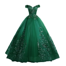 Ball-Gown Quinceanera-Dresses Lace Floral-Print Off-The-Shoulder Sweet Luxury Gryffon