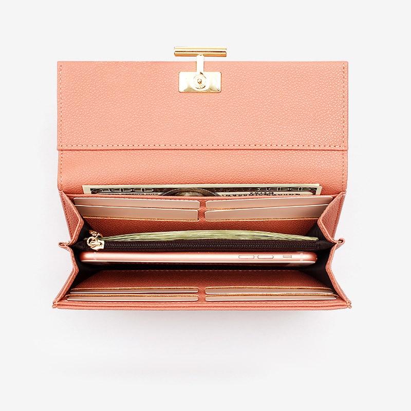 Купить с кэшбэком PU Leather Women Wallet 2019 Long Hasp Zipper Wallets for Girl Ladies Fashion Clutch Bag Purse 2019 New Female Luxury Coin Purse