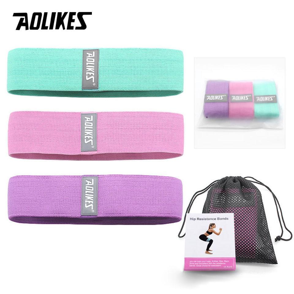 AOLIKES 3 шт./лот спортивные резиновые ленты Эспандеры резиновые ленты для фитнеса эластичная лента для фитнеса тренировочная лента