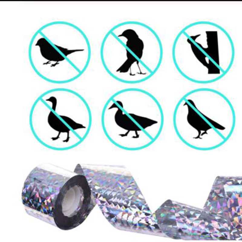 Audible Bird Scare Tape Anti Bird Tape Repellent Fox Pigeons Repeller Ribbon Tapes For Pest Control