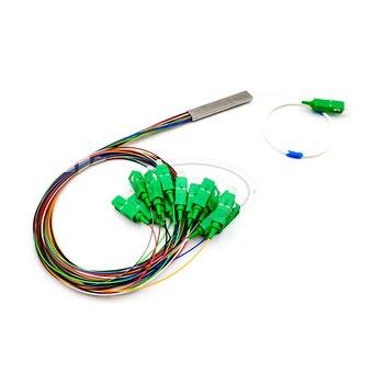 SC/ APC Single mode Fiber Optical FTTH 0.9mm mini plc splitter 1x16 1x16 2 0mm plc optical splitter sc apc 1x16 plc fiber optical splitter single mode