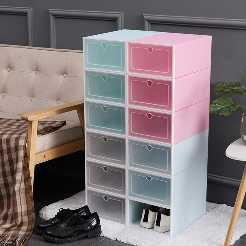 Shoe Cabinet With A Pair Of Shoes Foldable Clear Shoes Storage Box Plastic Stackable Shoe Organizer Shoe Closet Shoe Rack Shelf