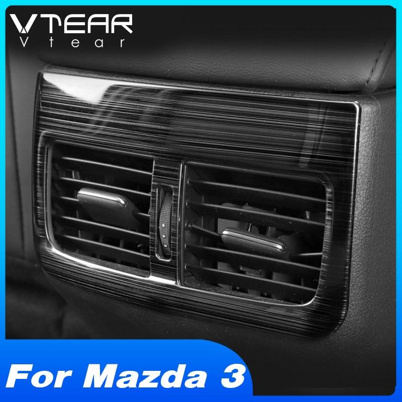 Vtear-reposabrazos para coche Mazda 3 2020, accesorios para interior, embellecedor de marco y decoración de coche