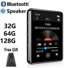 X60 nova versão bluetooth 5.0, reprodutor de mp3, tela sensível ao toque, alto-falante embutido, 32g 64g hifi, portátil walkman com rádio fm gravação