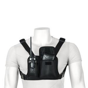 Image 2 - ABBREE Harness brust Vorne Packung Beutel Holster Tragen tasche für Baofeng UV 5R UV 82 UV 9R Plus BF 888S TYT Motorola Walkie Talkie