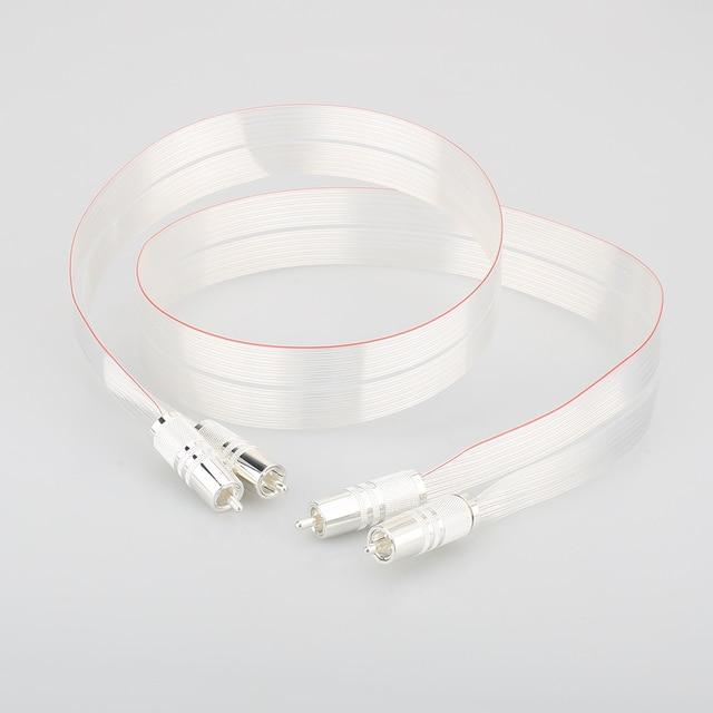 عالية الجودة SR 02 RCA مع الفضة مطلي سدادة RCA ربط كابل مكبر الصوت