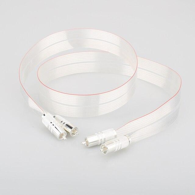 SR 02 RCA de alta calidad con conector RCA plateado, cable de altavoz de interconexión