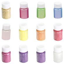 12 Pcs/set 12-color Pearl Powder Pigment DIY Crafts Jewelry Crystal Epoxy Filler Material Slime Mud Colorant