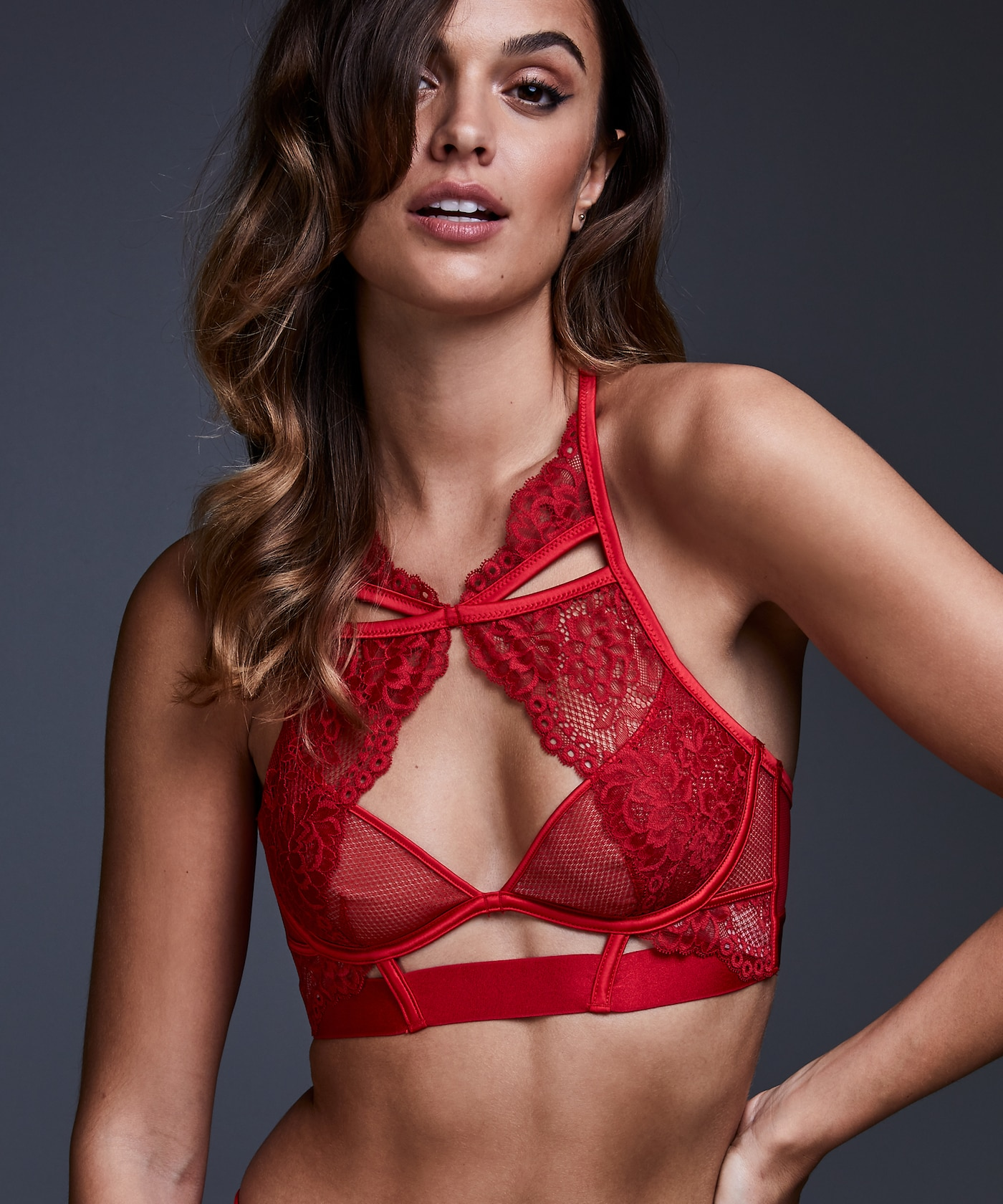 Private Collection Tomei underwired Sexy Red Black Lace Ultra Thin <font><b>Bra</b></font> <font><b>80C</b></font> Lenceria Women <font><b>Bra</b></font> Lingerie Sexy image