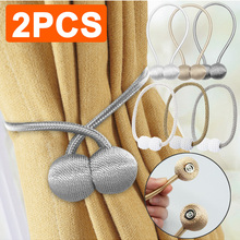 Tie Backs Accessory Curtain-Decorative Pearl-Ball Magnetic Buckle 1/2pcs