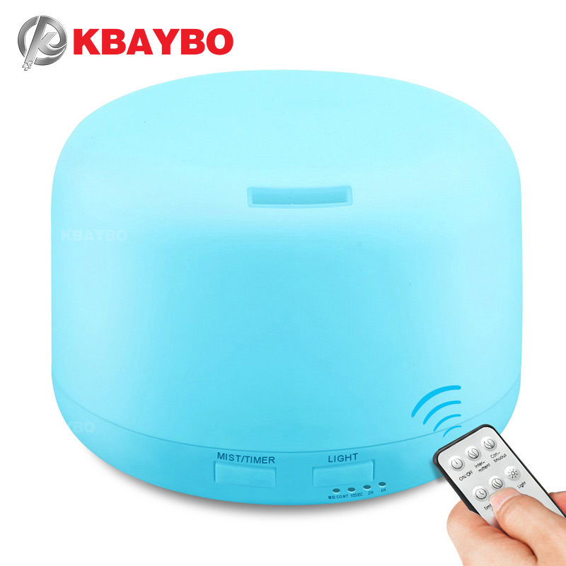 KBAYBO 300ML Electric Aroma Air Humidifier Ultrasonic Aromatherapy Essential Oil Diffuser With Remote Control 7 Color Lights